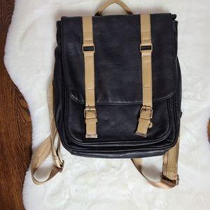 Street Level vegan leather knapsack